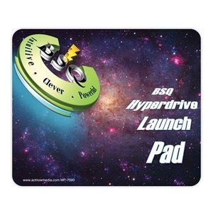 "DuraTrac Matte Plus™ Hard Surface Mouse Pad w/Heavy-Duty Rubber Backing (7 1/2""x9""x1/16"")"